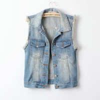 PenBangs — West Street Style Denim Vest