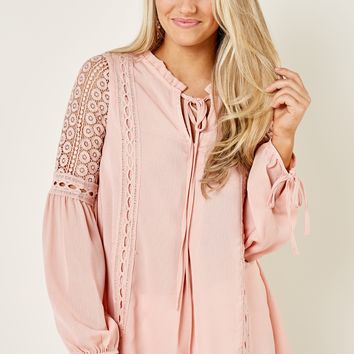 Making It Count Blush Pink Top