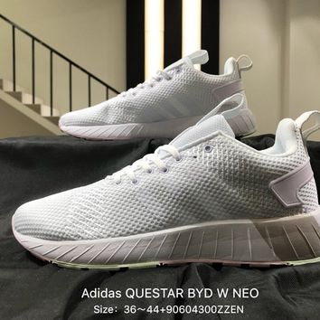 Gray  New Arrival 2018 Adidas NEO Label QUESTAR BYD W-DB1690 Women's Skateboarding Shoes  Running  Shoes Sneakers
