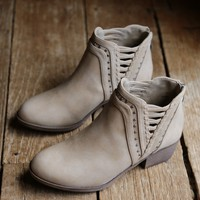 Threaded Bootie, Natural