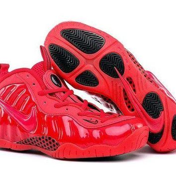 VONE2IS Jacklish Girls Nike Air Foamposite Pro Red October Gym Red Cheap Sale