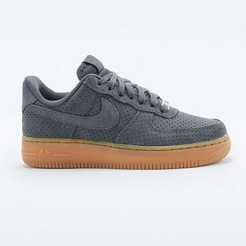 Nike Air Force 1 Grey Suede Trainers - Urban Outfitters