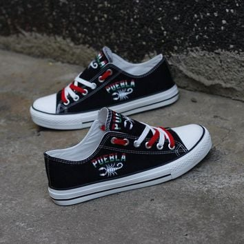Puebla Mexico Scorpion Shoes Low Top Canvas Custom Printed Sneakers