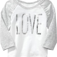 """Love"" Raglan-Sleeved Tees for Baby"
