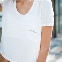 JENNAH NO SMOKING EMBROIDERY TOP