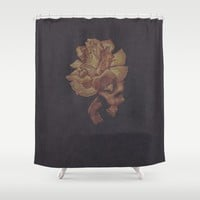 Skull Bloom Shower Curtain by drawingsbylam