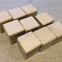 Set of 15 Natural Wooden Blocks, Natural Wood Building Blocks, Wooden Building Blocks, Natural Wooden Blocks