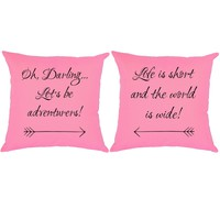 Lets Be Adventurers Throw Pillows