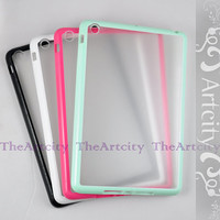 4 color choice-iPad mini case, Soft bumper frame frosted translucent  case for iPad Mini, iPad mini case bow