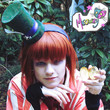 Mad Hatter Miniature Top Hat on Head band With Tiny by shopmeowzy