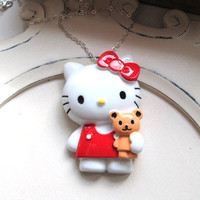 SALE - Hello Kitty JUMBO statement charm necklace