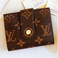 Louis Vuitton LV Fashion new monogram leather handbag wallet purse