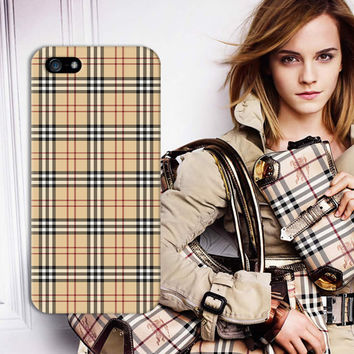 Burberry Signature Style Checkered Print Design Phone Case for iPhone 5 iPhone 5S 5C iPhone 4 iPhone 4S and Samsung Galaxy S5 S4 & S3