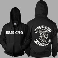 Thickening cotton-padded jacket SOA winter warm Hoodie Flannel Coats Soft Comfort Cashmere Sweatshirts  [8833911500]