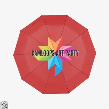 Pinwheel Logo, Kamloops Art Party Umbrella