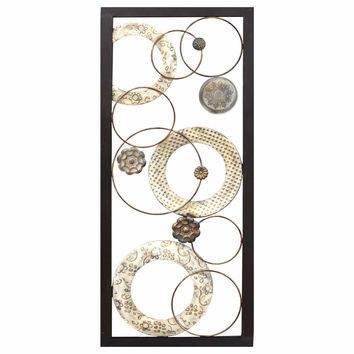 Stamped Circles Panel Wall Decor-Stratton Home Decor