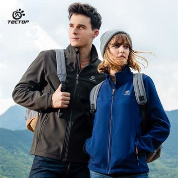 Tectop Men and Women camping Soft shell Jackets Waterproof Clothing
