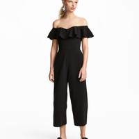 Off-the-shoulder Jumpsuit - from H&M