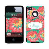 iPhone 4 & 5 Otterbox Commuter Custom Phone Case Personalized/Monogram - Blushing With Color 2002-OTT