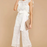 Women's Explosive Cotton Embroidered Casual Jumpsuit