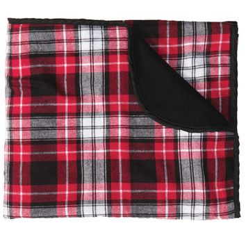 Boxercraft Classic Red and Black Plaid Blanket