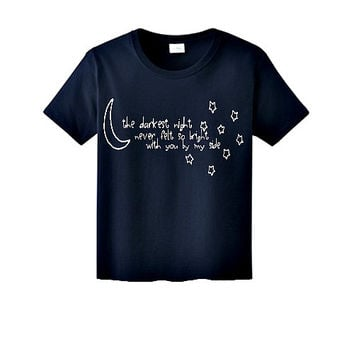 Navy 5SOS Outer Space Tee
