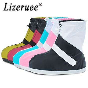Lizeruee Rain Shoes Cover Boots Reusable Rain Cover For Shoes Waterproof Motorcycle Rain Shoes Cover Non-Slip Boots CS506