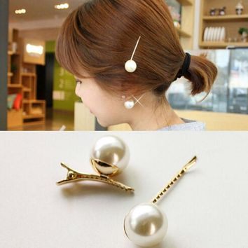 YouMap Fashion White Pearl Hair Clips Women Charm Wedding Bridal Party Hairpins Jewelry Accessories A9R26C
