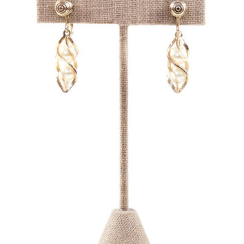 50's__Sarah Coventry__Pearl Drop Clip-on Earrings