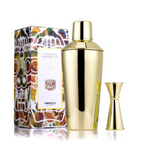 Gold Rose Stainless Steel Bartending Tools Cocktail Shaker Martini Wine Mixer Party Bar Set