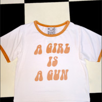 SWEET LORD O'MIGHTY! A GIRL IS A GUN RINGER IN WHITE
