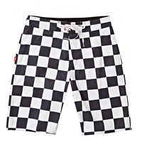 "Stussy: Checker 10.5"" Trunk - White"