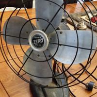 Vintage 1950s Bersted Mfg Co Zero Fan Model 1275 Great Office Man Cave Mad Men Decor Father's Day Groomsmen or Best Man Guy Gift