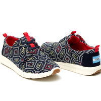 NAVY MULTI WOVEN WOMEN'S DEL REY SNEAKERS