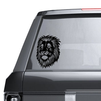 Lion Vinyl Window Decal - Car Sticker - Lion Head Decal