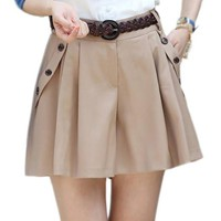 A-line Culottes Shorts Skirts