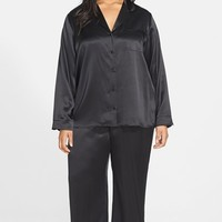 Plus Size Women's Nordstrom Collection 'Luxe' Silk Pajamas,