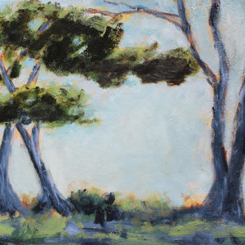 Monterey Bay - Carmel by the Sea - Coastal - Cypress Trees - Oil Painting - Original - Honeyscolors - Landscape - Trees - 18 x 24