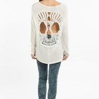 Behind Me Skull Top $43