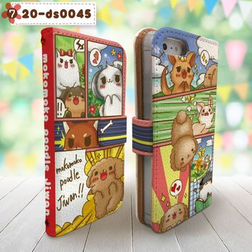 Mokomoko Poodle Cute Wallet Case for iPhone & Samsung Galaxy Design 7