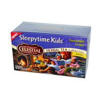 Celestial Seasonings Herbal Tea - Sleepytime Kids Goodnight Grape - Caffeine Free - Case Of 6 - 20 Bags