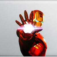 Iron Man  - Mac Decal Macbook Stickers Macbook Decals Apple Decal  Macbook Pro Sticker Macbook Air  iPad2 Decals