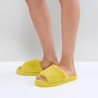 ASOS DESIGN Neema Loungewear Slippers at asos.com