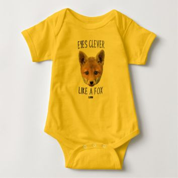 Eyes Clever Baby Design by Kat Worth Baby Bodysuit