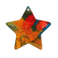 "Josh Serafin ""What's Beneath My Feet"" Fish Seagull Ceramic Star Ornament"