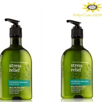 *2* Bath & Body Works Aromatherapy Eucalyptus Spearmint Stress Relief Hand Soap