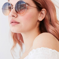 Pasadena Gradient Round Sunglasses | Urban Outfitters