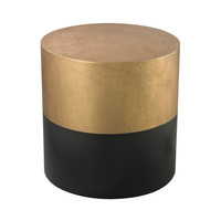 Lazy Susan Black And Gold Draper Drum Table - 114-121