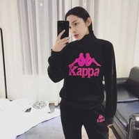 KAPPA Women Fashion High-Necked Pullover Top Sweater