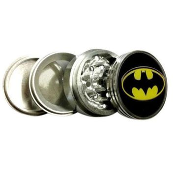 Batman Logo Herb Aluminum Grinder 2.2' 4 Piece W/ Pollen Screen = 1927865668
